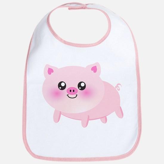 cute pig Bib