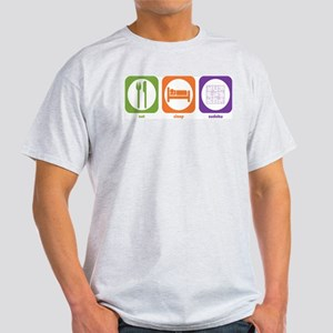 Eat Sleep Sudoku Ash Grey T-Shirt