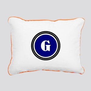 Blue Rectangular Canvas Pillow