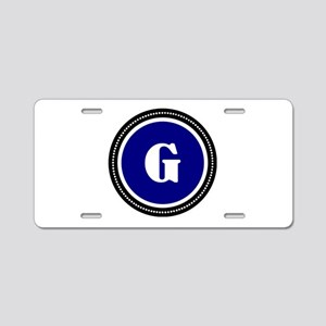 Blue Aluminum License Plate