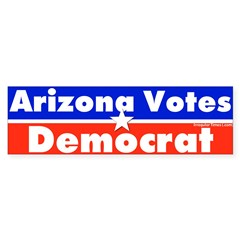 Arizona Votes Democrat Bumper Bumper Sticker