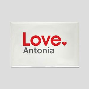 Love Antonia Rectangle Magnet