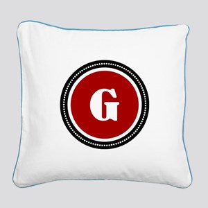 Red Square Canvas Pillow