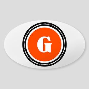Orange Sticker (Oval)