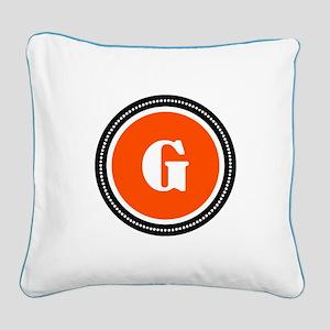 Orange Square Canvas Pillow