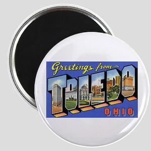 Toledo Ohio Greetings Magnet