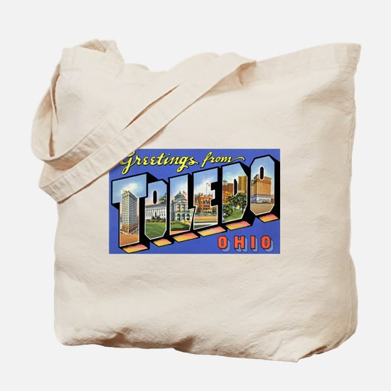 Toledo Ohio Greetings Tote Bag
