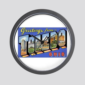 Toledo Ohio Greetings Wall Clock