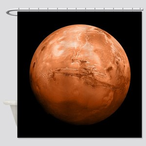Planet Mars Shower Curtain
