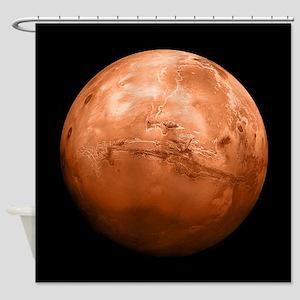Planet Mars Shower Curtain