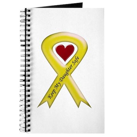 Keep My Daughter Safe Yellow Ribbon Journal