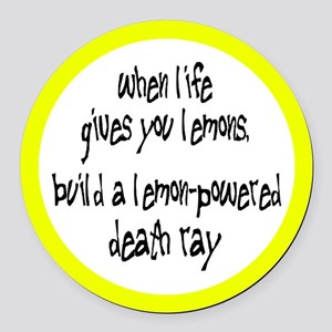 Build A Lemon-Powered Death Ray Round Car Magnet
