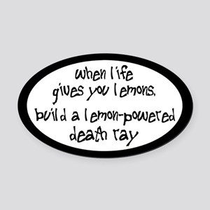 Build A Lemon-Powered Death Ray Oval Car Magnet