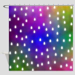 Rain Drop Pattern. Shower Curtain