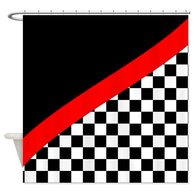 Racing Checkered Design Shower Curtain by stolenmomentsph