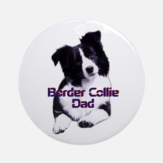 border collie dad Ornament (Round)