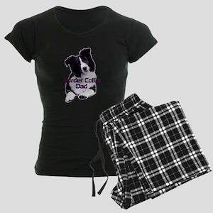 border collie dad Women's Dark Pajamas