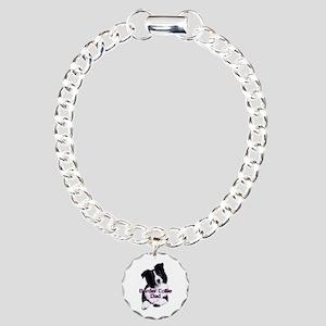 border collie dad Charm Bracelet, One Charm