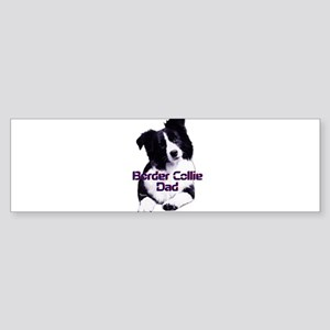 border collie dad Sticker (Bumper)