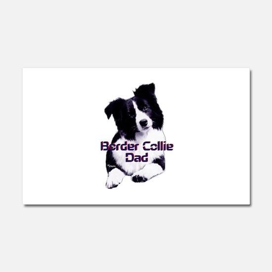 border collie dad Car Magnet 20 x 12