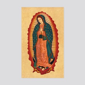 Virgin Of Guadalupe Sticker (Rectangle)