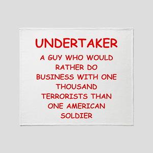 UNDERTAKER Throw Blanket