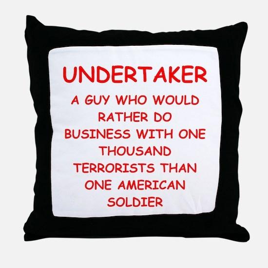 UNDERTAKER Throw Pillow