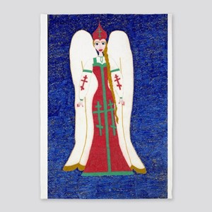 Russian Orthodox Angel 5'x7'Area Rug