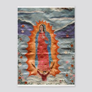 Our Lady of Guadalupe (Papyrus Ver.) 5'x7'Area Rug