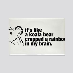 Koala-Crazy Rectangle Magnet