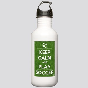 Keep Calm and Play Soccer Water Bottle