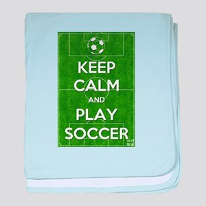 Keep Calm and Play Soccer baby blanket