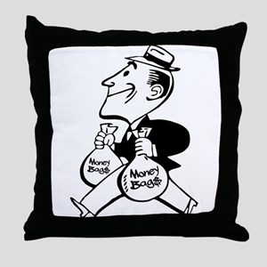 Mr. Money Bag$ Throw Pillow
