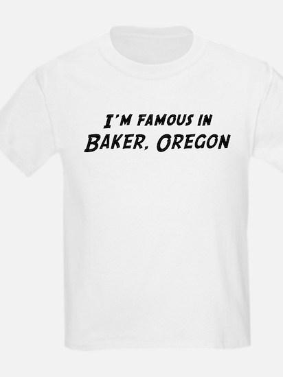 Famous in Baker Kids T-Shirt