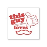 Guy Loves Mustache Sticker