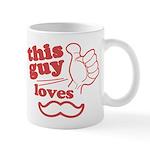Guy Loves Mustache Mug