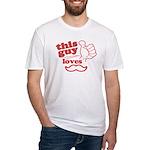 Guy Loves Mustache T-Shirt