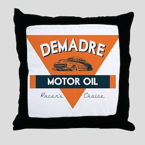 DeMadre Motor Oil Throw Pillow