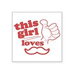 Girl Loves Mustache Sticker