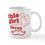 Girl Loves Mustache Mug