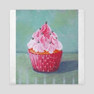 Pink Mountain Cupcake - Queen Duvet