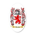 Aranda Oval Car Magnet
