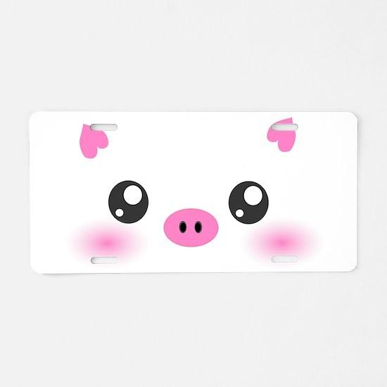Cute Pig Aluminum License Plate