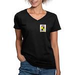 Arancio Women's V-Neck Dark T-Shirt