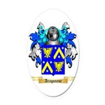Aragonese Oval Car Magnet