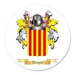 Aragon (2) Round Car Magnet