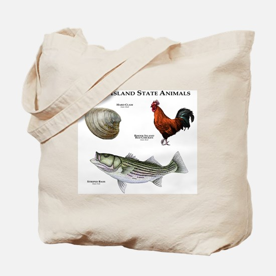 Rhode Island State Animals Tote Bag