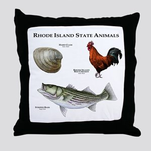 Rhode Island State Animals Throw Pillow