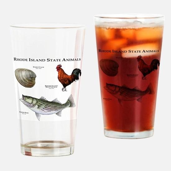 Rhode Island State Animals Drinking Glass