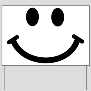 Smiley face Yard Sign